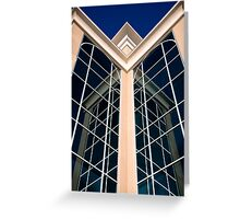 Symmetry: In Blue Greeting Card