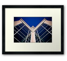 Symmetry: Blue Reflection Framed Print