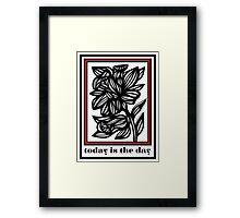 Makela Flowers Red White Black Framed Print