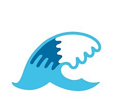 Water Wave Google Hangouts / Android Emoji by emoji