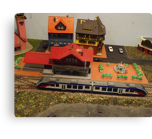 Scale Model Trains, Scale Model Buildings, Greenberg's Train and Toy Show, Edison, New Jersey Canvas Print