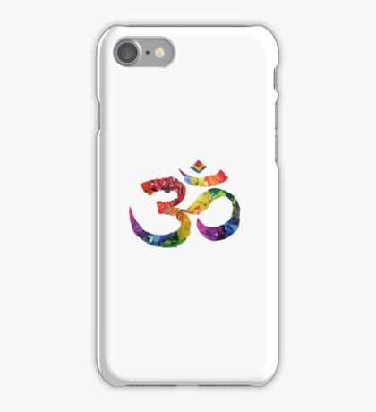 rainbow ombre aum sign  iPhone Case/Skin