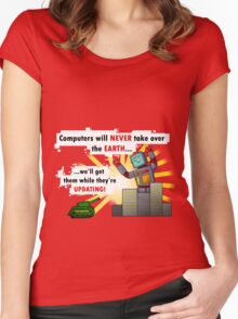 Why Computers will never take over... Women's Fitted Scoop T-Shirt