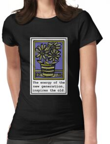 Dishinger Flowers Yellow Blue Womens Fitted T-Shirt