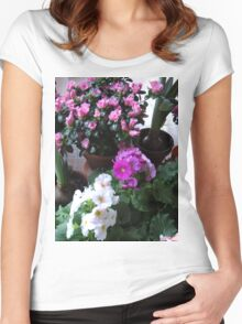 Azaleas and Primrose II Women's Fitted Scoop T-Shirt