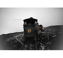 Old Train Going Down Photographic Print