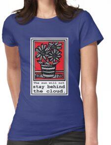 Beachum Flowers Red White Black Womens Fitted T-Shirt