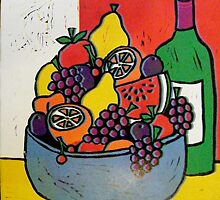 Fruit Bowl and Wine by Alexandra Felgate