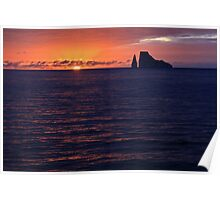 Kicker Rock at Sunset Poster