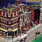 Lego Trains, Lego Buildings, Greenberg's Train and Toy Show, Edison, New Jersey  by lenspiro