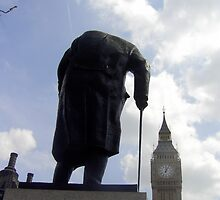 Churchhill statue London by kerplunk