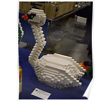 Lego Swan, Greenberg's Train and Toy Show, Edison, New Jersey  Poster
