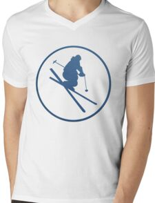 SKI framed Mens V-Neck T-Shirt