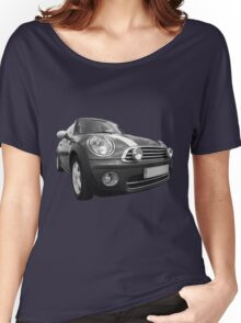 mini black and white Women's Relaxed Fit T-Shirt
