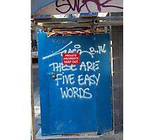 Easy Words Photographic Print