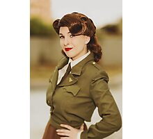 Tanya Wheelock as Peggy Carter (Photography by David Skirmont, with Additional Editing by Tascha Dearing) Photographic Print