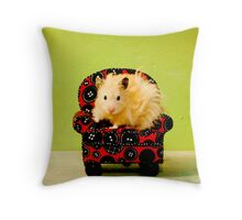 Comfy Hamster Throw Pillow