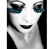 feather lashes Photographic Print