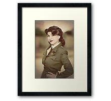 Tanya Wheelock as Peggy Carter (Photography by David Skirmont, with Additional Editing by Tascha Dearing) Framed Print