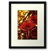 Tinsel and Glitter Framed Print