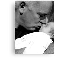 My daddy and me Canvas Print