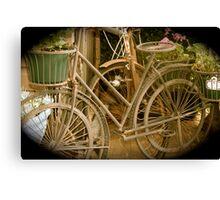 Old Bikes Canvas Print