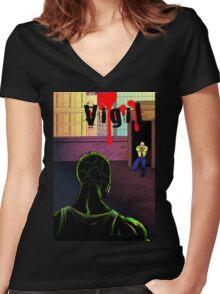 Vigil #3 cover t-shirt Women's Fitted V-Neck T-Shirt