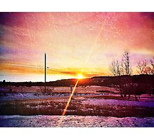 Snowy Sunset Photographic Print