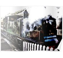 LSWR M7 0-4-4 Tank No. 30053 Steam Engine Poster
