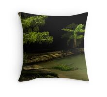 Carboniferous forest Throw Pillow