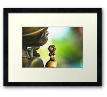 Bronze Pinocchio Framed Print