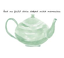 Teapot with Text Photographic Print