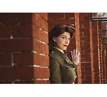 Tanya Wheelock as Peggy Carter (Photography by Markus Zimmerman, with Additional Editing by Tascha Dearing) Photographic Print