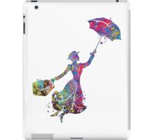 Mary Poppins Silhouette Watercolor iPad Case/Skin