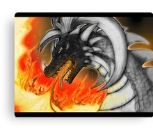 Dragon in fire Canvas Print