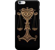 Rustic Libra Zodiac Sign on Stone Effect iPhone Case/Skin