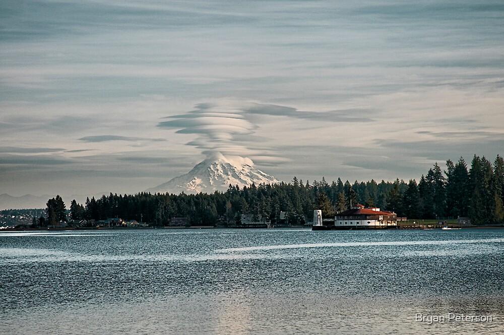 Mount Rainier Erupting by Bryan Peterson