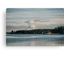 Mount Rainier Erupting Canvas Print