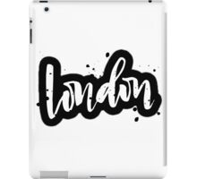 London Brush Lettering iPad Case/Skin