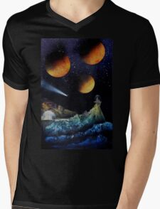 Space Fortress by Katsu Mens V-Neck T-Shirt