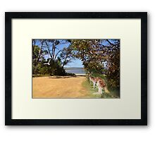 Action at the riverside Framed Print