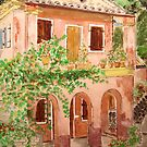 Watercolour.                        Corfu Greece   by Irene  Burdell