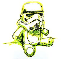 Stormtrooper Bear Photographic Print