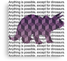 Except for Dinosaurs Canvas Print