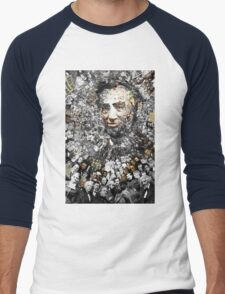"Title: ""Rendering Myself Worthy"" Abe Lincoln, Slavery, Civil War Meta Collage Men's Baseball ¾ T-Shirt"
