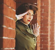 Tanya Wheelock as Peggy Carter (Photography by Markus Zimmerman, with Additional Editing by Tascha Dearing) by mostdecentthing
