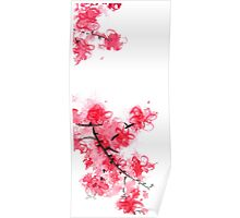 Cherry Blossoms Triptych III Poster