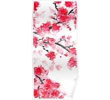 Cherry Blossoms Triptych II Poster