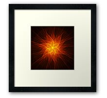 Buddha Flower Framed Print