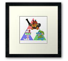 Pokemon Triforce - Colored Framed Print